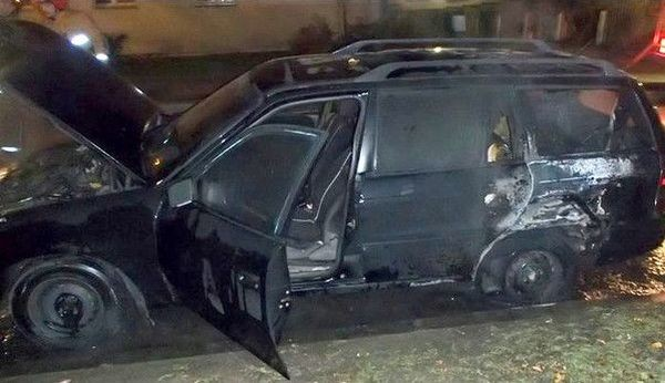 Сгоревшие аварийные авто в Минске